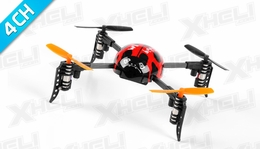 WL Toys Mini Drones RC Beetle V939 Quadcopter 4 Channel 2.4Ghz Super Mini(Red)