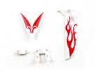 tail decorate blades    (Compatible with Toysrus Fast Lane 3.5CH RC Jaw Breaker Helicopter) 56P-s032-08