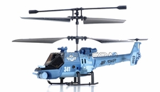JXD 341 Mini 3 Channel RC helicopter RTF w/ Gyro & LED Lights (Blue)
