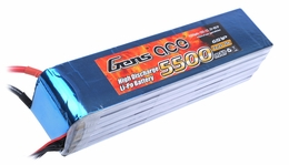 Gens ace 5500mah 6S1P 22.2V 25C Lipo battery pack