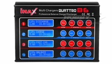 SkyRC Quattro B6 Charger 1-15 NiCd/NiMH cells; 1-6 Lipo/Lilon/LiFe cells;1-10 Lead-Acid cells(2V-20V)