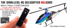 Smallest RC Helicopter Heli-CAM w/ 4GB Memory Disk - Record up to 1 1/2 Hour! for RC Helicopter Fun