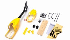 EC135 450 Pre-Painted Glass Fiber Fuselage for 450 size Helicopters w/ Magnets (Yellow)