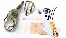 MD530 450 Pre-Painted Glass Fiber Fuselage for 450 size Helicopters w/ Magnets (Army)