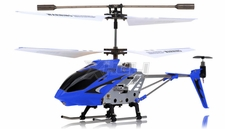 Syma 3 Channel H107 Mini Indoor Co-Axial Metal Body  Helicopter w/ Gyro (Blue) RC Remote Control Radio