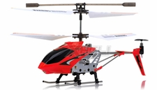 Syma 3 Channel H107 Mini Indoor Co-Axial Metal  Helicopter & Built-in Gyroscope (Red) RC Remote Control Radio