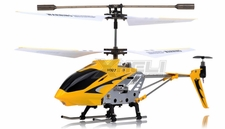 Syma 3 Channel H107 Mini Indoor Co-Axial Metal  Helicopter & Built-in Gyroscope (Yellow) RC Remote Control Radio