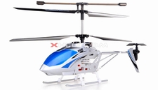Syma S032 Metal 3-Channel RTF Co-Axial RC Electric Helicopter w/ Gyroscope (Silver)