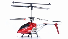 Syma S006G Alloy Shark RC Remote Control Metal Frame Helicopter w/ Gyroscope (Red)
