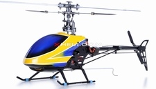 Fully-Loaded 6-Channel 2.4G E-Razor 450-3D Metal RC Helicopter w/ Direct-Belt-Drive Brushless Motor & Lipo, Brushless Motor+ESC+LiPo (Blue RTF)
