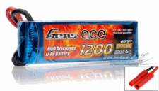 Gens Ace 1200mAh 6 Cells 22.2V 30C Lipo RC Battery