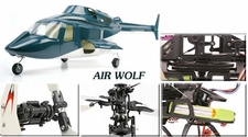 Esky Air Wolf Fiber Glass Scale Cabin Helicopter RTF Remote Controlled w/ Brushless & Lipo Upgrade
