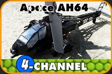 4-Channel Military Apace AH64 Super Stable Counter-Rotational Black RC Helicopter RTF * Walkera DragonFly 5-4* H5-4Black