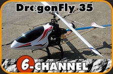 6-Channel DragonFly 3D Aerobatic + Collective Pitch + Radio Remote Control RC Helicopter R/C RTF Heli H35