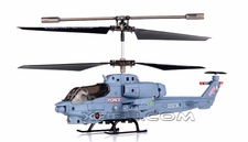 Syma S108G 3 Channel RC Indoor Mini Co-Axial Infared Marines RC Helicopter w/ Built in Gyro (Gray)