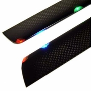 Carbon Fiber Tri-Light Night Blades for 400 size RC Helicopter