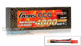 Gens ace 4000mah 2S1P 7.4V 30C hard case Lipo battery