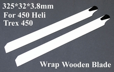 325*32*3.8mm For 450 Helicopter/ Trex 450 Wrap Wooden Blade 02P08-WrapBlade