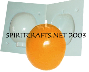 "ORANGE CANDLE MAKING MOLD (2.75"" DIA / 7 oz)"