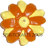 "DAISY BLOSSOM FLOATING CANDLE MOLD (4"" DIA, 3 oz)"