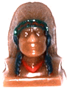 "INDIAN CHIEF CANDLE MAKING MOLD (5"" HT, 12 oz)"