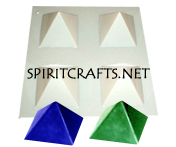 "FOUR WELL PYRAMID CANDLE MOLD (3"" x 2"", 4 oz)"