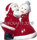 "KISSING SANTA CLAUSE CANDLE MOLD (4.75"", 11 oz)"