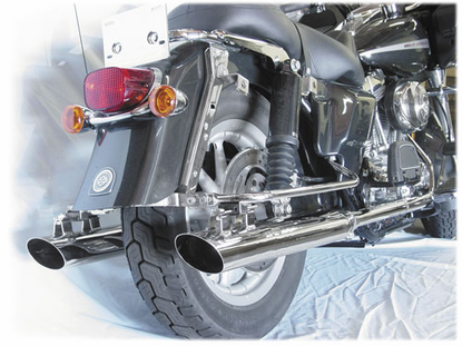 "Cycle Shack 4"" Oval Mufflers (Dresser Models) from Motobuys.com"