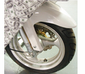 Mist Genetal Accessories - Carbon Fiber Front Fender White - Swd - from Motobuys.com