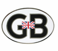 Badges - Gb Oval withUnion Jack from Motobuys.com