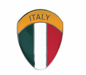 Badges - Italy Flag Shield from Motobuys.com