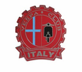 Badges - Vespa Club Italy Red from Motobuys.com