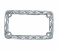 License Plates - Chrome Plate Frame Twisted from Motobuys.com