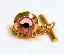 Light Rose Tie Tack - Small Gold
