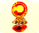 Fire Red Lapel Pin - Gold