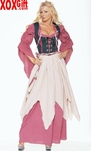 Renaissance Wench Or Virgin Maiden 4 Pc Deluxe Adult Costume LA 8970