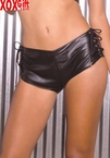 Leather hot pants With lace up detail on side, shown With L4124 EM L7102