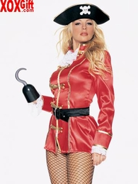 Womens Captain Hook Pirate Costume LA 8947