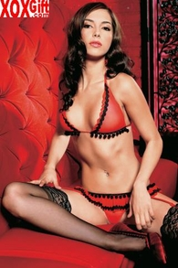 Bikini Top And Garterbelt With Attached G-String LA 81131