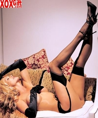 Sheer Thigh High Stockings In Sensuous Black! R 90024