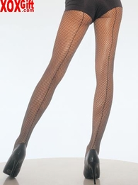 Plus Size Back Seam Fishnet Pantyhose LA 9015Q