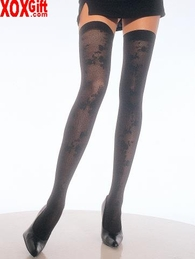 Jacquard Spandex Thigh High Stockings LA 1668