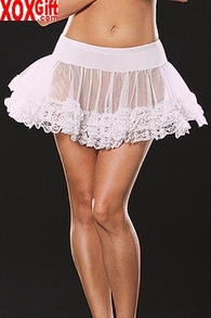 Petticoat With Ruffled Lace Ends LA 8999