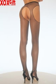 Plus Size Fishnet Suspender Pantyhose Instant Booty Call LA 1402Q