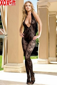Womens Rose Bouquet Bodystocking LA 8431