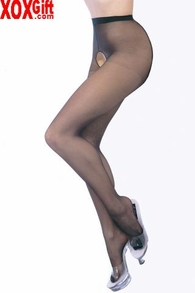 Plus Size Crotchless Sheer Pantyhose On Sale LA 1905Q