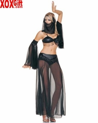 Beaded & Mesh Belly Dancer Outfit LA 8062