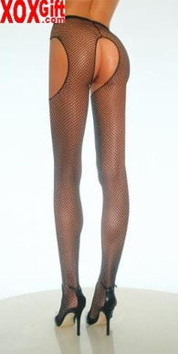 Plus Size Fishnet Suspender Pantyhose EM 1402Q