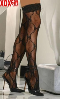 Plus Size Bow Lace Thigh High EM 9655Q