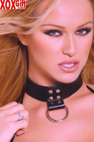 Leather Choker With Ring. EM L9624
